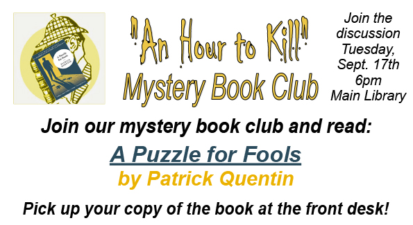 Mystery Book Club September